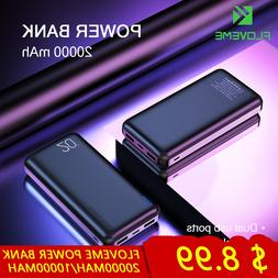 FLOVEME Power Bank 20000mAh Double USB Phone <font><b>charge