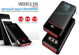 Power Bank 25000mAh Portable Charger Battery Pack with Three
