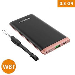 Power Bank USB C Battery Pack, Tronsmart Ultra-Thin External