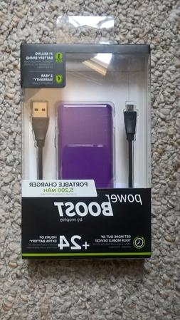 Powerboost by Mophie Portable Charger 5,200 mAh with 24+ Hou
