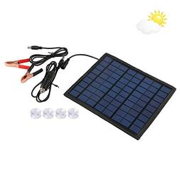 Qlhshop Powerful 12V 5W Watt Portable Solar Panel Battery Ch