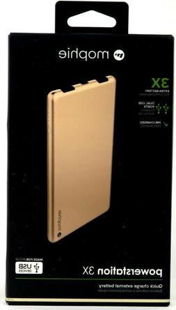 mophie Powerstation 3X for Smartphones and Tablets  - Gold