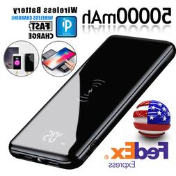 Qi Wireless Charging 50000mAh Power Bank Battery Pack Portab