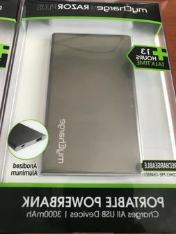 MyCharge Razor Plus Portable Charger 3000mAh NEW in package