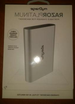 myCharge - RAZORPlatinum 13400 mAh Portable Charger - Silver