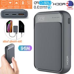 ROCK Portable Power Bank PD QC 3.0 Quick Charge Type-C 10000