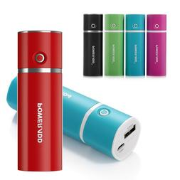 Poweradd Power Bank 5000mAh External USB Mini Portable Lipst