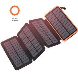 Benfiss Solar Charger 25000mAh, Fast Charger Outdoor Portabl