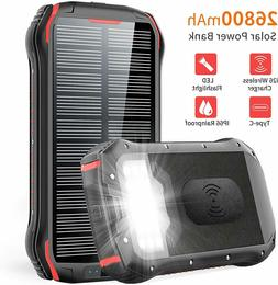 solar charger 26800mah oryto qi wireless portable