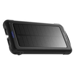 RAVPower Solar Charger 10000mAh Power Bank with LED Flashlig