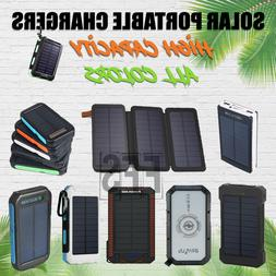 Solar Battery Charger Portable For Hiking USB lot Flash Ligh