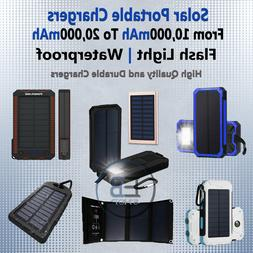 Solar Portable Charger Panel Dual USB Waterproof outdoor lot