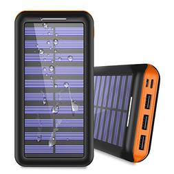 Solar Charger 24000mAh Portable Power Bank, ALLSOLAR Externa