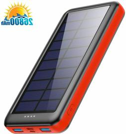 solar charger power bank 26800mah type c