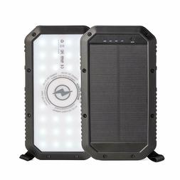 Solar Power Bank Portable Solar Charger 10,000mAH Qi Wireles
