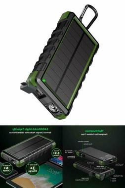 EasyAcc Solar Power Bank Rugged Waterproof Portable Charger