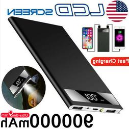 Ultra-thin Portable Power Bank 900000mAh External Battery Hu