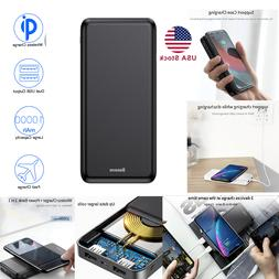 Baseus Universal Portable Qi Wireless Charger 10000mAh Power
