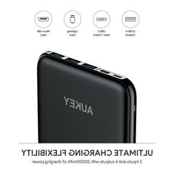 AUKEY USB C Power Bank, 20000mAh Portable Charger USB C, Sli