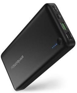 USB C Power Bank RAVPower 20100 Portable Charger with QC 3.0