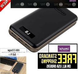 KMASHI 10000mAh USB External Battery Power Bank Portable Cha