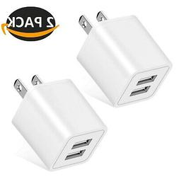 Wall Charger, 2.4A 12W Dual Port Portable Universal USB Wall