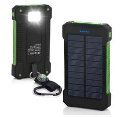 Waterproof 500000mAh Dual USB Portable Solar Battery Charger