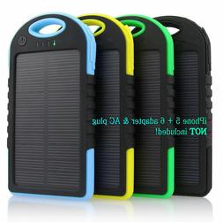 Waterproof Solar Charger Portable USB Battery Power Bank For