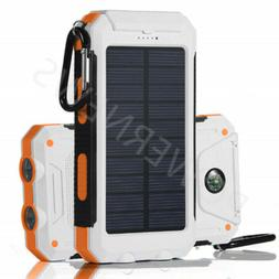 Waterproof Solar Power Bank 900000mAh Portable External Batt