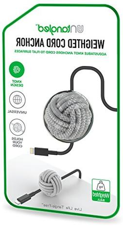 weighted desktop cord anchor holder